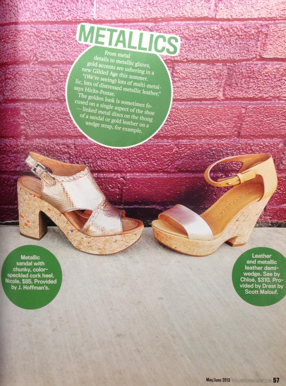 Summer of the Shoe: Metallics